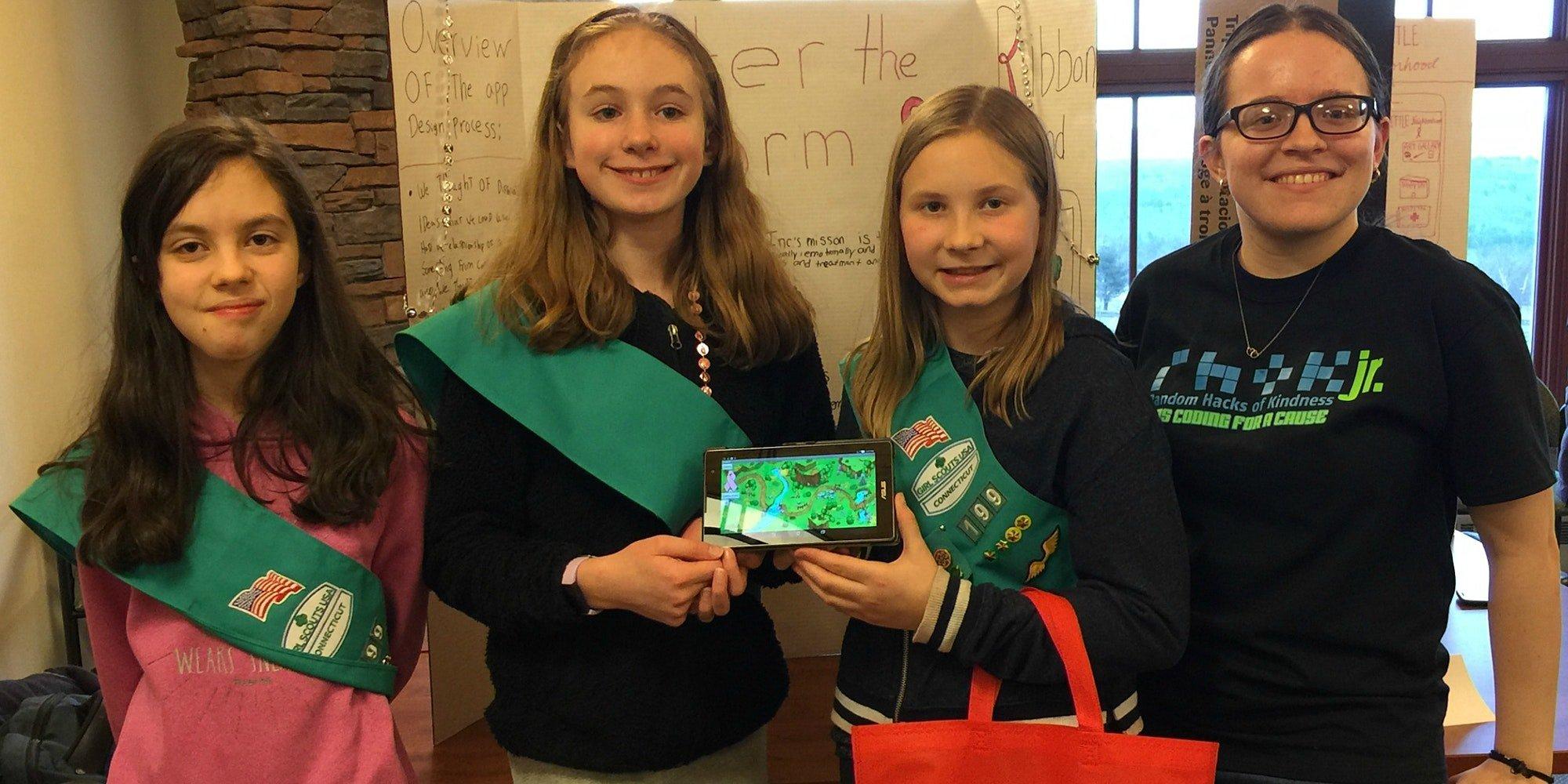 CT Girl Scouts at RHoKJr Hackathon